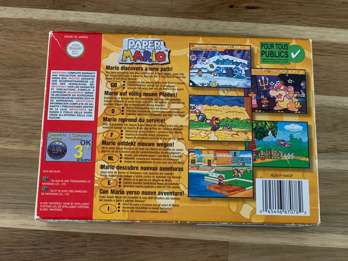 Nintendo Nintendo 64 Paper Mario N64 - Game (1) - In original box - Catawiki