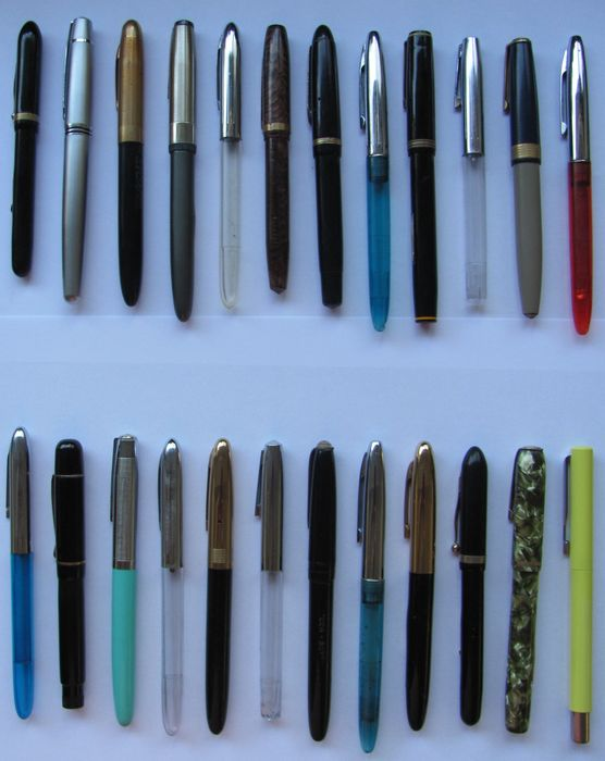O.a. Sheaffer, Parker, Viceroy, Universal, Epenco etc. - Fountain pen - Collection of 23