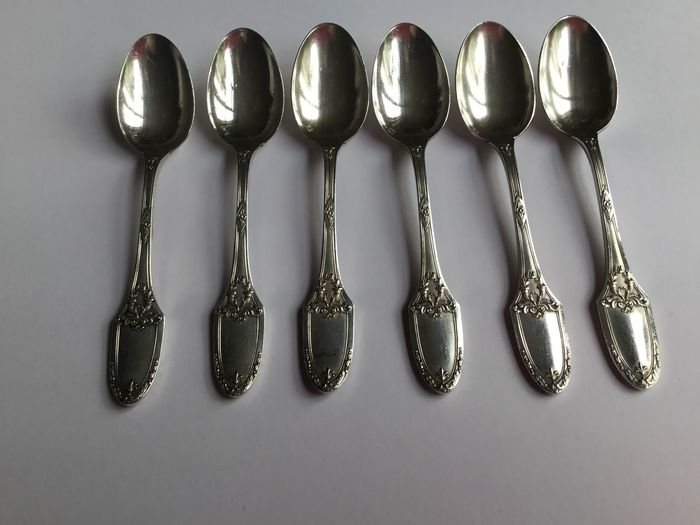 Tea Spoons  (6) - Silver plated - Boulenger - France - 1900-1949