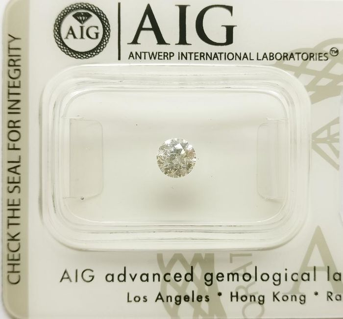 1 pcs Diamond - 0.38 ct - Round - H - I1