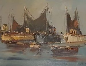 J.Kelderman 1914-1990 - Haven gezicht Bretagne