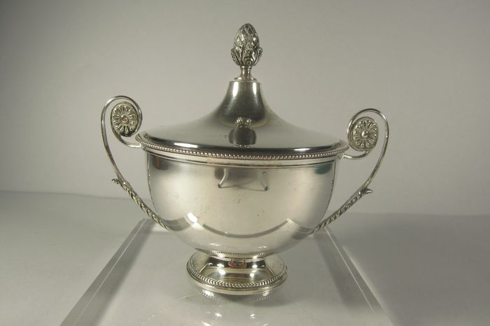 Sugar bowl - Silver 800 - Italy - Florence - Second half 20th century