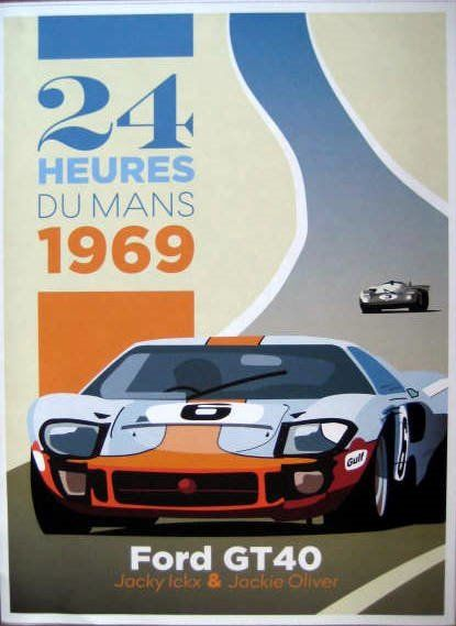 Decorative object - Ford GT40 #8 Jacky Ickx/Jackie Oliver Winners Le Mans - 1969
