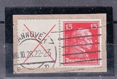 German Empire - Se - tenant printing on piece of cover - Michel W 23