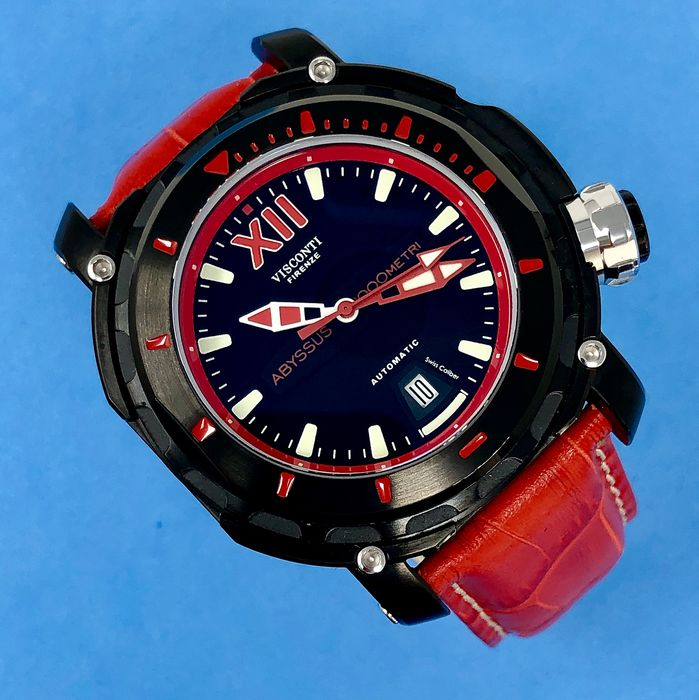 """Visconti - Abyssus Full Dive 1000 Red Tone Croco and Rubber Straps - KW51-03 """"NO RESERVE PRICE"""" - Hombre - NEW"""