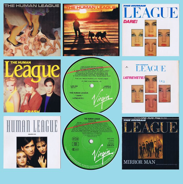 "The Human League - Diverse Titel - LP's, Maxi Single 12"" - 1979/1988"