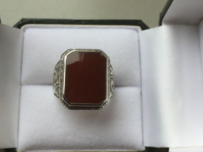 835 silver - Agate ring