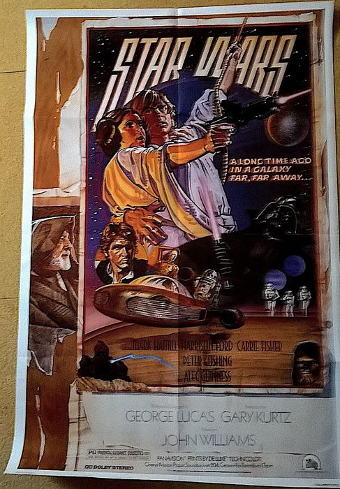 Star Wars - Original USA 1995 1sh poster Style D - A NEW HOPE -  Art by Drew Struzan