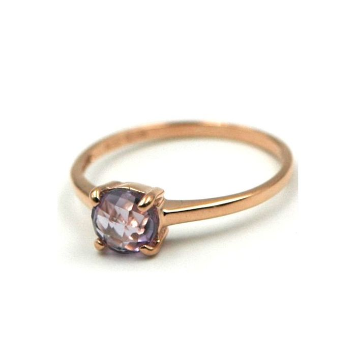 18 kt. Gold, Pink gold - Ring Amethyst