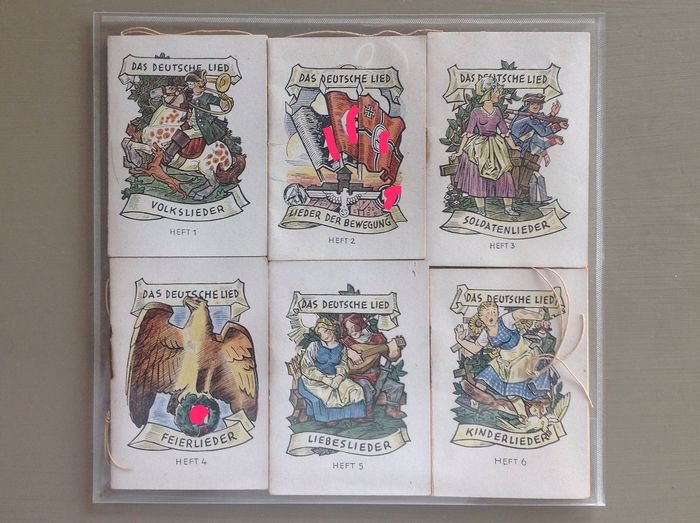Germany - WHW - Winterhilfswerk - 6 different song books - Complete series