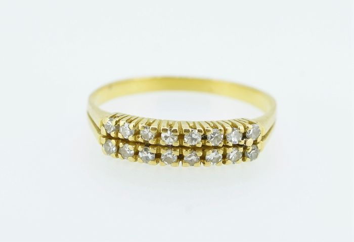 19,2 carats Or jaune - Bague - Diamants