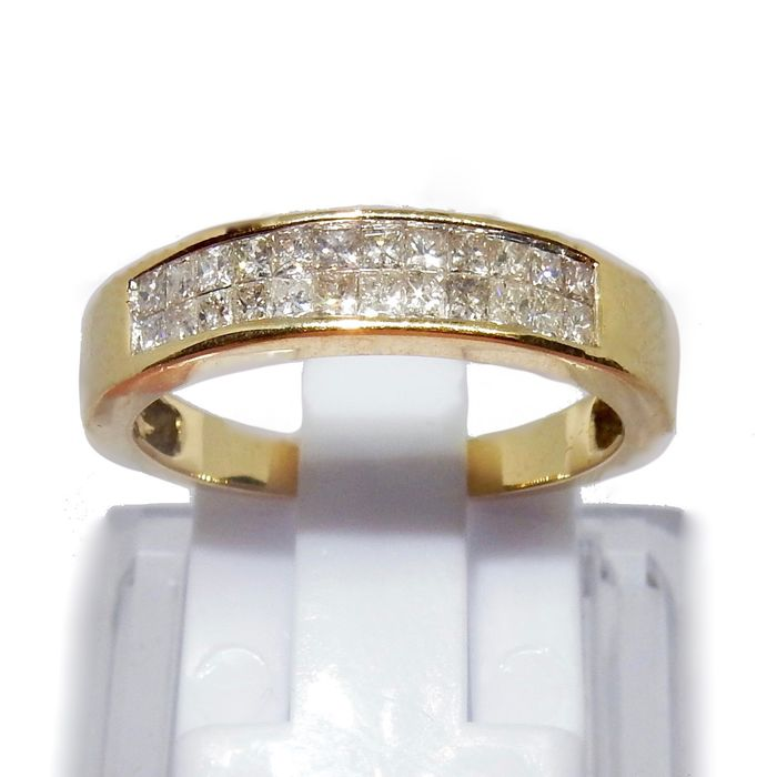 AV - 14 kt. Yellow gold - Ring, Alliance 0.48 carats total approximately signed Av - Diamonds