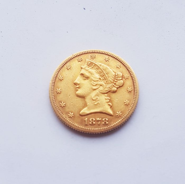 United States - 5 Dollars 1878-S Liberty Head - Gold