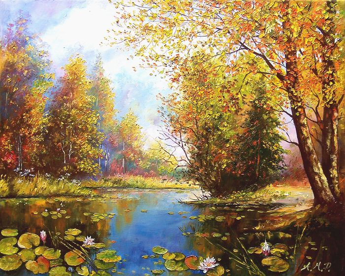 Anna Maria Potera - Autumn by the lake