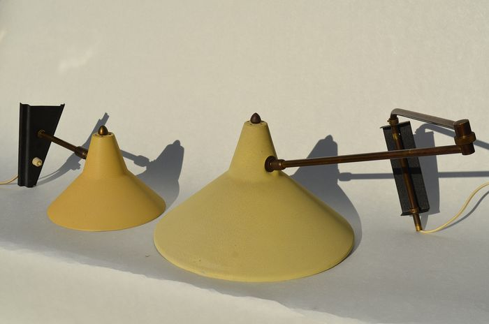 Lampe Elbow et Applique Vintage des années 50 (2) - Ellbow lamp and wall lamp