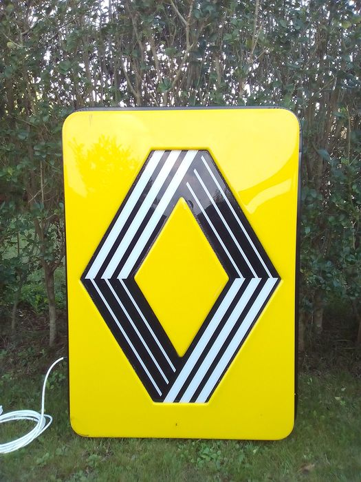 Decorative object - Renault - Official large dealer light box- 80's (2 sided) - 1980-1989