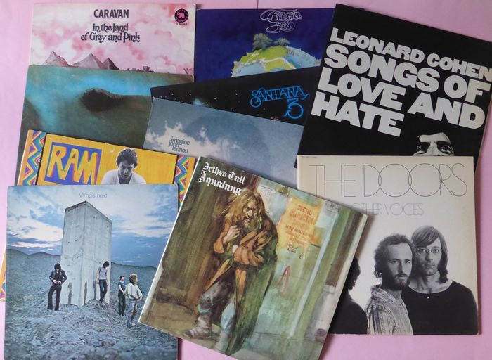 10 Of The Best Albums Of 1971 - Multiple artists - Yes, Pink Floyd, The Who, Caravan, Leonard Cohen The Doors, Paul McCartney - Multiple titles - LP's - 1971