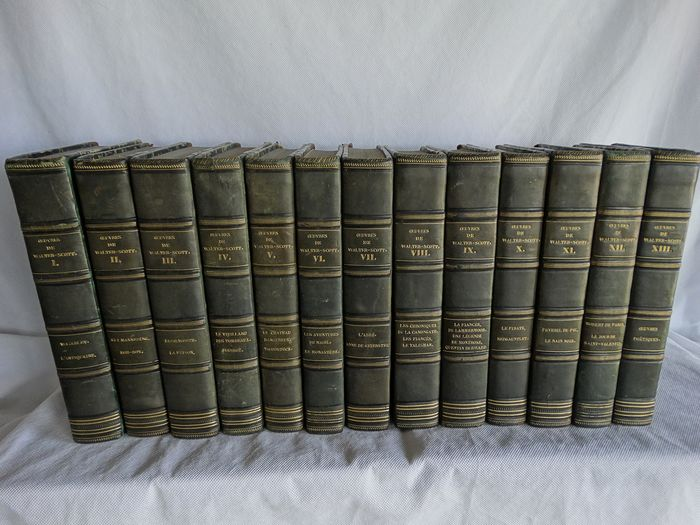 Walter Scott - Waverley / L'antiquaire / Guy Mannering / Rob-Roy etc - 1840/1847