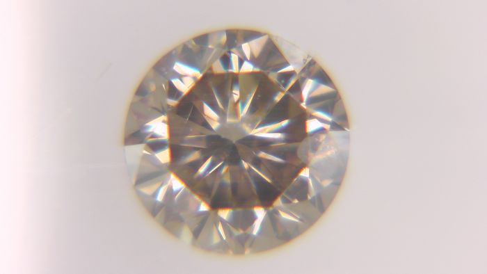 1 pcs Diamond - 0.40 ct - Round - fancy brown - SI1, No Reserve Price!