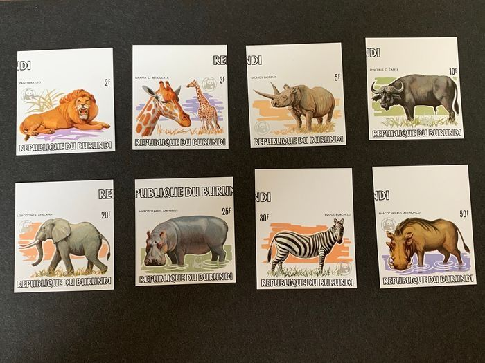 Burundi 1983 - WWF Animals of Africa - Complete series imperforate - OBP / COB 892-904ND