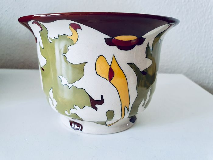 T.A.C. Colenbrander - Ram Arnhem - Decorative pottery bowl - Abstract decor 'Fall'