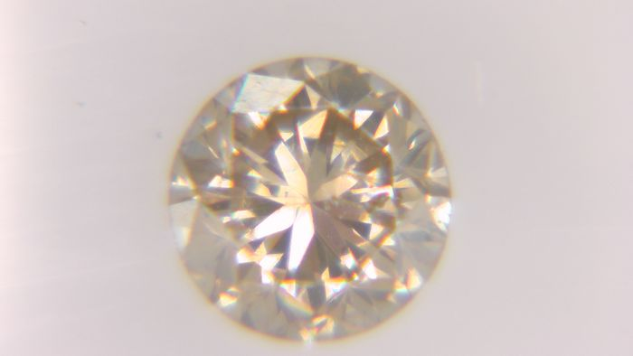 1 pcs Diamant - 0.36 ct - Rund - fancy orangy brown - SI2, No Reserve Price!