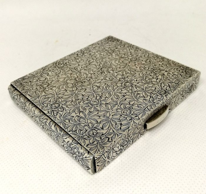 Silver Box with Superb Quality Engraving - .925 silver - Italy - mid 20th century
