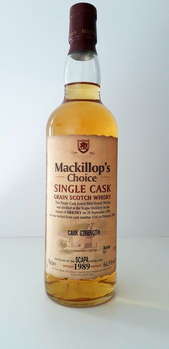Scapa 1989 11 years old - Mackillop's Choice - 70 cl
