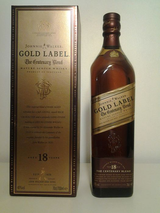 Johnnie Walker 18 years old The Centenary Blend - Original bottling - b. 1990-luku - 700ml