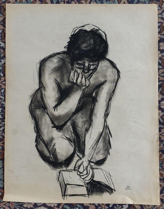 Drawing - Paper - Study of nude - Femme lisant - Japan - Second half 20th century