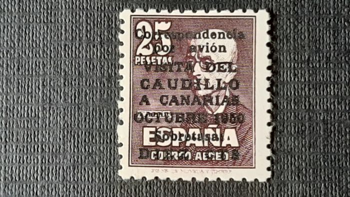 Spanje 1950 - 'Visita del Caudillo a Canarias' (Visit of Franco to the Canary Islands), without control number on - Edifil 1083