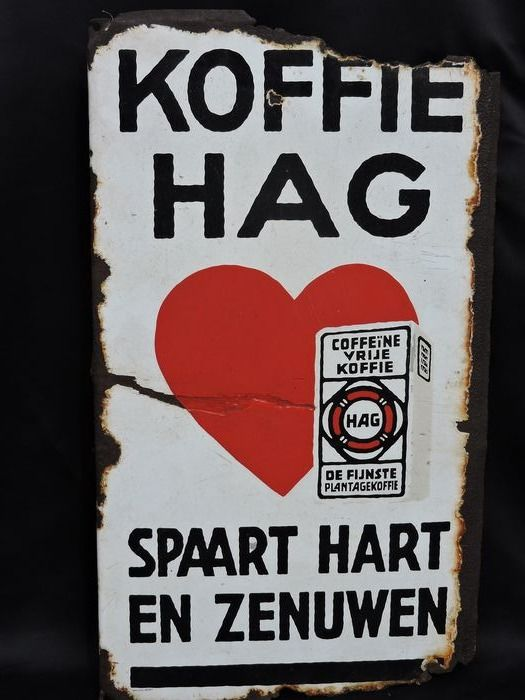 Reclame Koffie Hag - Emaille