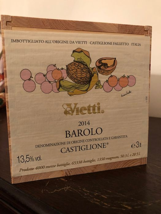 "2014 Vietti ""Castiglione"" - Barolo - Only 50 Numbered bottles produced - 1 Dubbele Magnum/Jerobeam (3.0 L)"