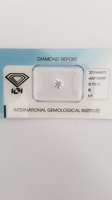 1 pcs Diamond - 0.70 ct - Brilliant - E - IF (flawless)