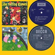 Rolling Stones - 1. Flowers (1967) | 2. The Rolling Stones (Butterfly cover!) (1964) - Multiple titles - LP's - 1964/1968