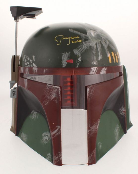 Star Wars - Jeremy Bulloch ( Boba Fett ) - Full-Size Deluxe Edition Helmet - Signed with COA JSA
