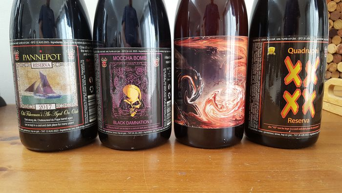 Struise Brouwers: Pannepot Reserva, Black Damnation II, Clash of the Titans & Quadrupel XXXX Reserve - 4 bottles.
