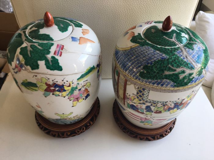Ginger Jars (2) - Porcelain - China - Late 20th century