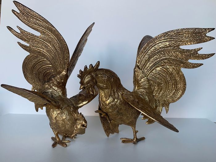 Sculpture (2) - gold plated, copper