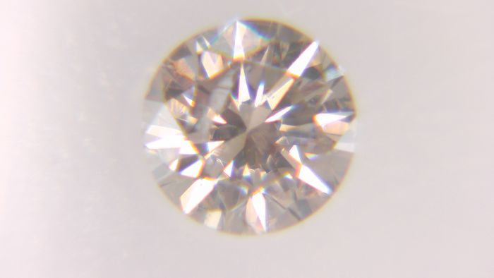 1 pcs Diamant - 0.29 ct - Rond - fancy brownish pink - SI2, No Reserve Price!