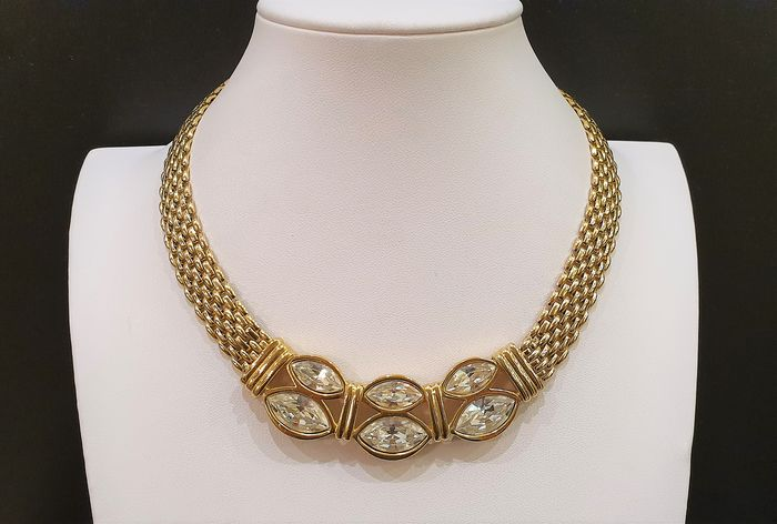 Swarovski Collier crystal Necklace - 18kt gold plated