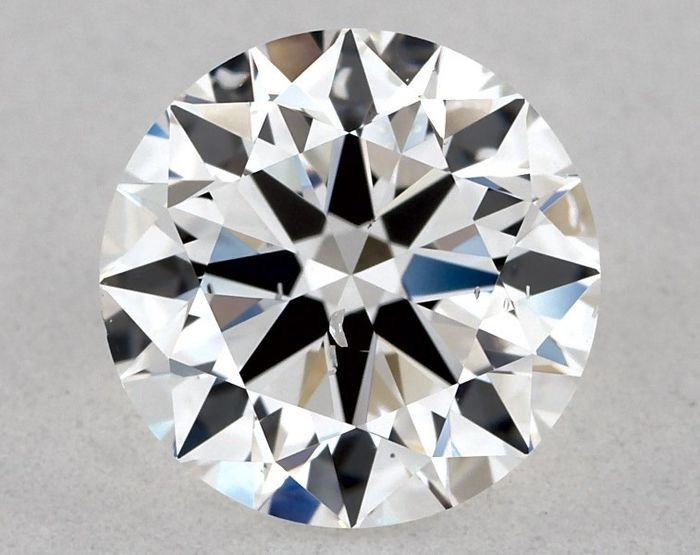1 pcs Diamant - 0.90 ct - Brillant, Rund - D (farblos) - SI1, * EX/VG/EX *, LOW RESERVE
