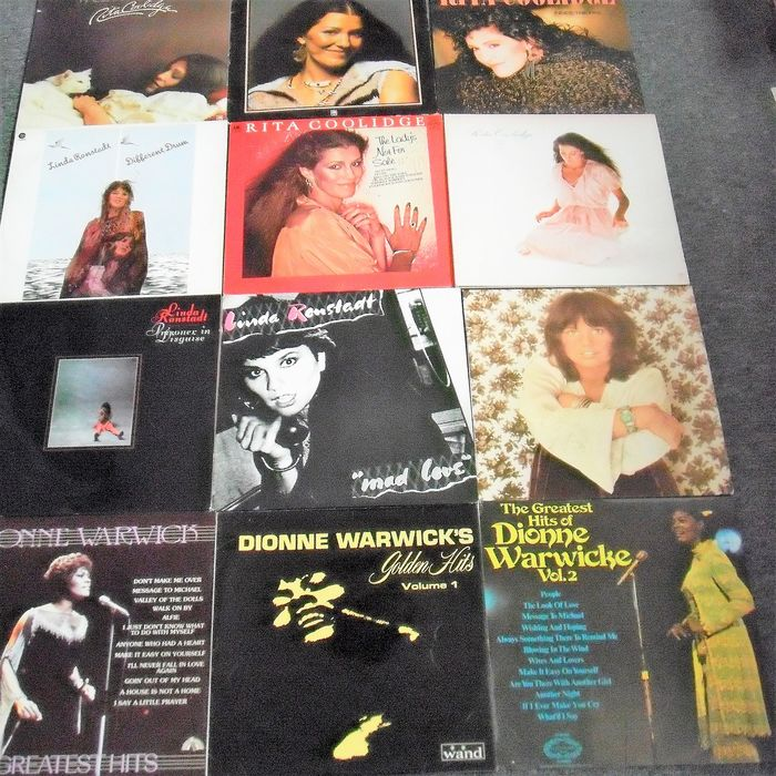 Linda Ronstadt, Rita Coolidge, Dionne Warwick Famous Singers with Famous Albums - Multiple titles - LP's - 1964/1984