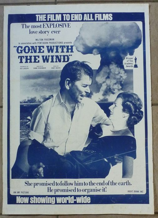 Bob Light - John Houston - Ronald Reagan and Margaret Thatcher in Gone with the wind - 1981