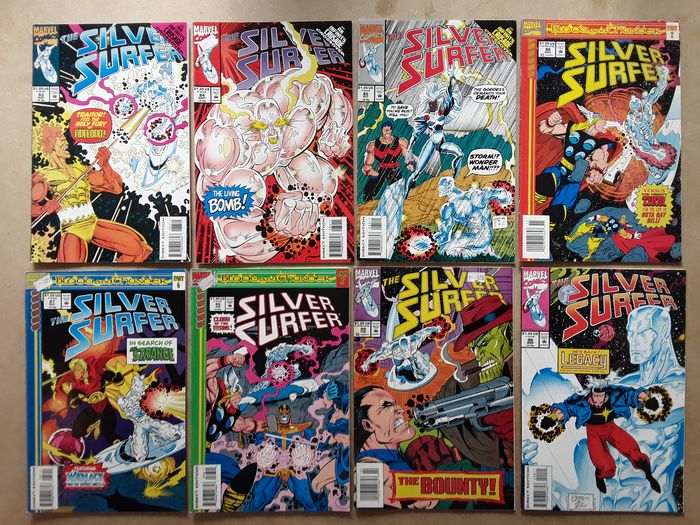 Silver Surfer - 38X  Complete Run - #83-120. Infinity Crusade & Blood and Thunder tie-in - Thanos, Hulk, Captain Marvel III, Wonder Man, Thor, Beta Ray Bill, Adam Warlock, Doctor Strange - Softcover - First edition - (1993/1996)