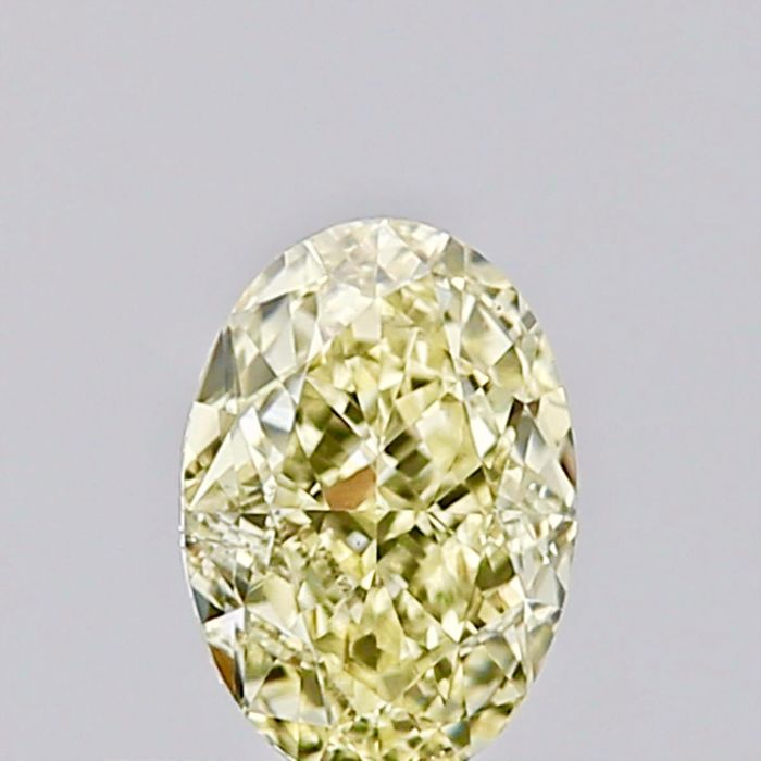 1 pcs Diamant - 0.41 ct - Oval - fancy yellow - SI2, ***Low reserve***