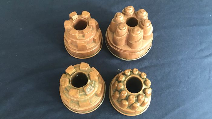 Pudding moulds (4) - copper