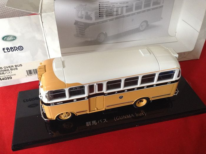 "Ebbro - 1:43 - ref. #44099 Nissan N180 Cab Over Bus 1951 -- ""Gunma Bus"" yellow/blue - excellent quality modelcars - limited edition"
