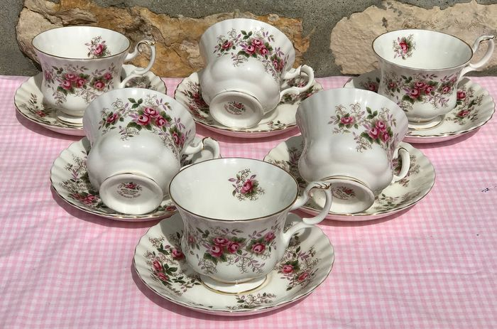 Royal Albert Lavender Rose - Theeservies - 6 kopjes en schoteltjes (12) - Porselein