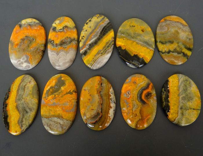 10 pcs  Bumble Bee Jasper - 800.00 ct